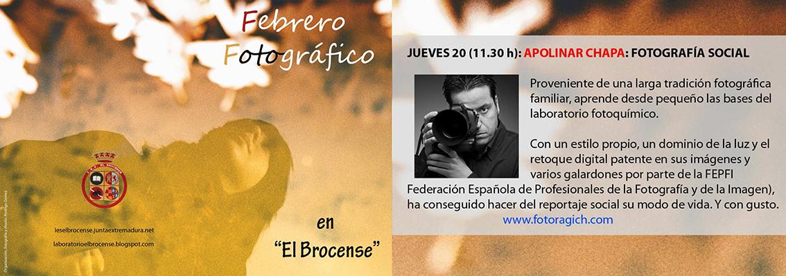 Charla de Ragich Fotógrafos Cáceres en El Brocense