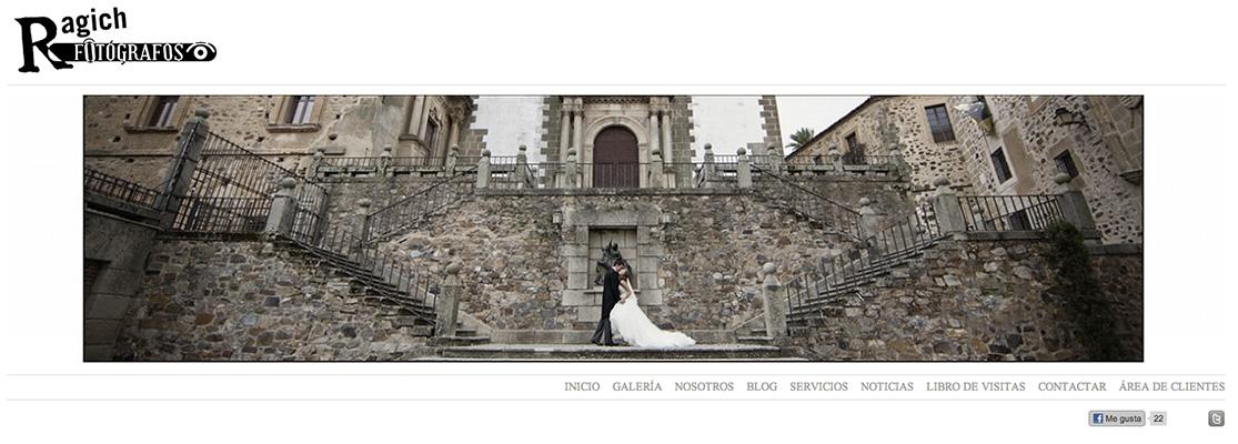 Página web de Ragich Fotógrafos - Cáceres - Extremadura